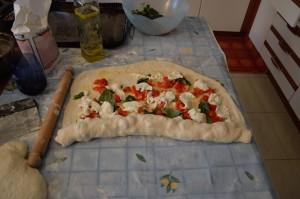 Girelle con pomodoro e basilico