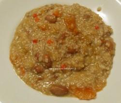 zuppa di farro, zucca e fagioli